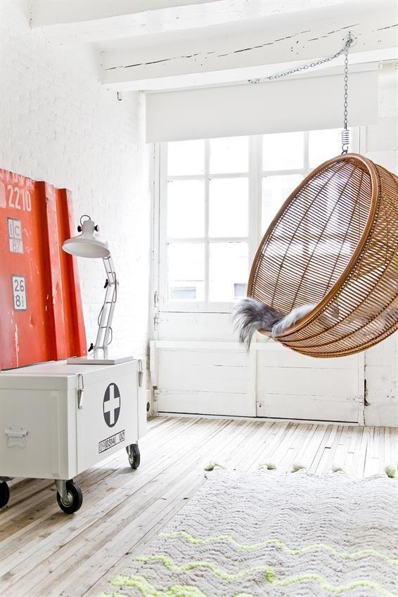 Hk Living Hangstoel.Hk Living Hangesessel Ball Naturell Rattan Designwohnen De